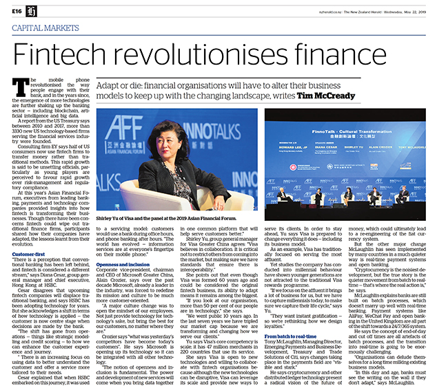 Tim McCready   Capital Markets: Fintech revolutionises finance